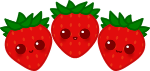 Kiriban Prize: Kawaii Strawberries by amis0129