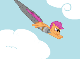 Scootaloo with a booster by ponyus94