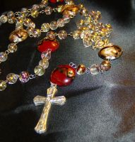 Glass Bead Rosary by DKayCrafts