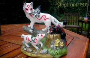 SOLD Customized Ammy, Chibi and Dark Chibi statue by stephanie1600