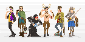 Pixel Friends Assemble by Olsonmabob