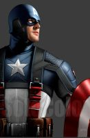 Captain America 5 detail by JPRart