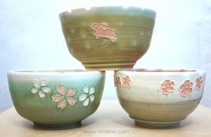 Bowls with flowers and one rabbit by skimlines