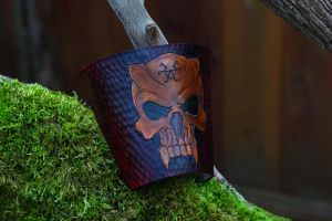 Demon skull Heavy Metal Bracer by ChardwolfArmory