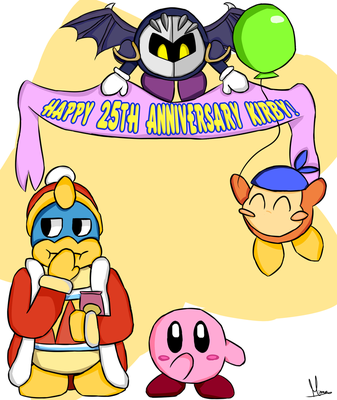 Happy 25th Anniversary Kirby! w/ speedpaint by FaithCreates
