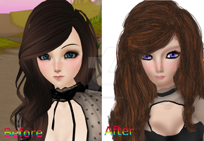 .:Before And After Painover:. by iAnnaKoneko