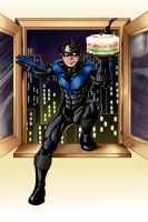 Nightwing Birthday Commission by Tattletale616