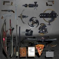 Devil May Cry 4 Weapons and Objects by ArmachamCorp