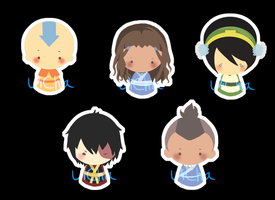 The Last Airbender Charm Set by c-dra