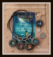 Percy Jackson Necklace Set by maryfaithpeace