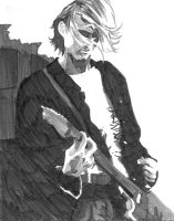 Sketchbook Kurt Cobain by karmapayment