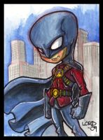 Lil Red Robin Sketchcard by lordmesa