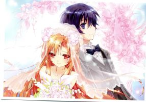 SAO - Asuna and Kirito Wedding Clothes by DominLoL
