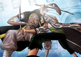Zoro Vs Daz Bones by Deer-Head