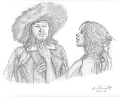 Barbossa and Tia by drakenadestroyer