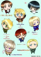 Axis Powers Hetalia - chibi by phi-ehj