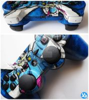 Crossbone Gundam PS3 Controller by Viagraphics