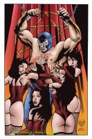 Blue Demon Jr y las diabolicas by miguelangelh