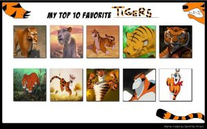 My Top 10 Favorite Tigers by Nicktoons4ever