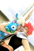 FEB 14th NATSU and LUCY by oruntia