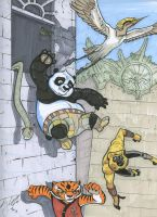 Kung fu Panda con sketch by Bullfinchcomic