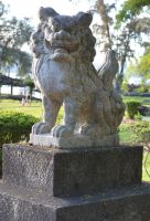 Guardian Statue watches over Liliokalani Park by TaleSmith