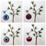 Star Wars Glitter Ornaments by cutekick