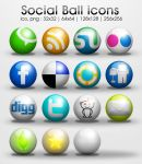 freebie: Ball social icons by yahya12