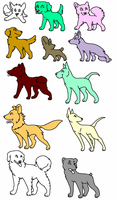 OPEN-dog adoptables FREE FOR WATCHERS by muffinthehamster11