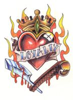Loyalty Tattoo Heart by mikesmith101