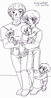 TF - humanized!Bonded with Sparkling family photo by Cloud-Kitsune