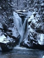 Snow waterfall by Paulaart18