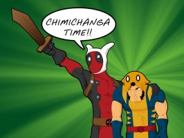 Deadpool's Adventure Time by WeaponXIX
