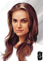 Fast Drawing - Natalie portman by thegameworld