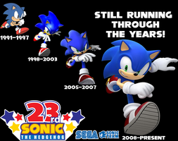 Still Running Through The Years Sonic 23rd Poster by pepsiboy3