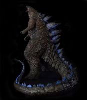 1/100th Scale Godzilla 2014 Statue full body by FritoFrito