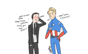 The Avengers: Phil Coulson and his idol by mellamelfran