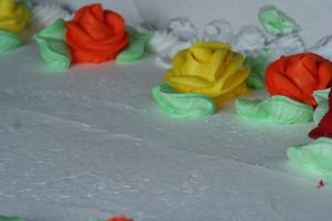 Frosting Roses by Dellessanna