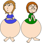 [CM] Bloated Jade and Claire by GirlsVoreBoys