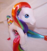 G3 Gay Pride Rainbow Custom My Little Pony by mayanbutterfly