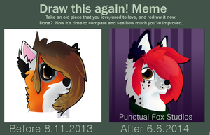 Draw This Again Meme: Griffin Bust by PunctualFox