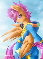 Scootaloo Wonderbolt by KnifeH