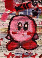 Kirby on Newspaper XDXD by little-ampharos