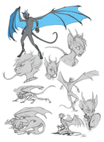 Comm Sketch Page - Dark Kace by Majime