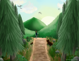 Morning Hike by iMuseling