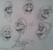 Luigi sketches by Luigilover140