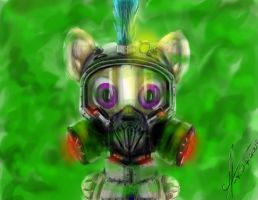 In a gas mask by 1Vladislav