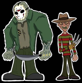Jason and Fred by Lordwormm