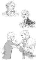 Anders and Fenris by P-JoArt