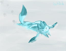 Glaceon : Snow by DazkDusk